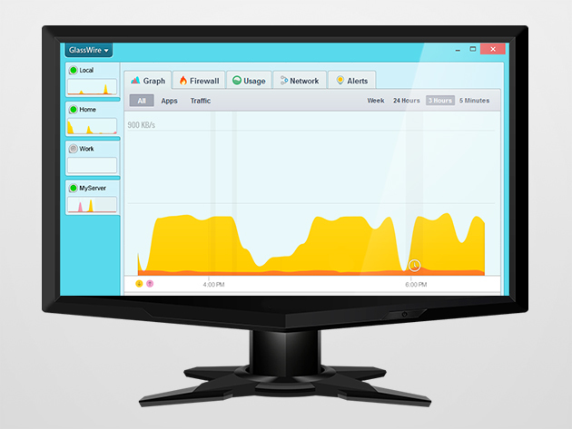 Glasswire Pro protects your PC by monitoring your network – 70% off