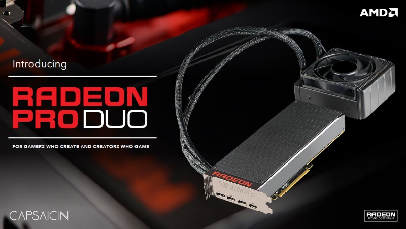 AMD Announces Radeon Pro Duo for VR Creators; Graphics Roadmap Updated Till 2018