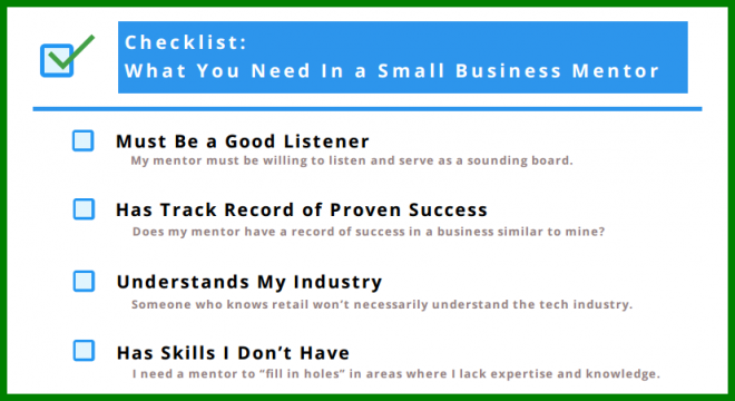 Checklist for Finding a Small Business Mentor