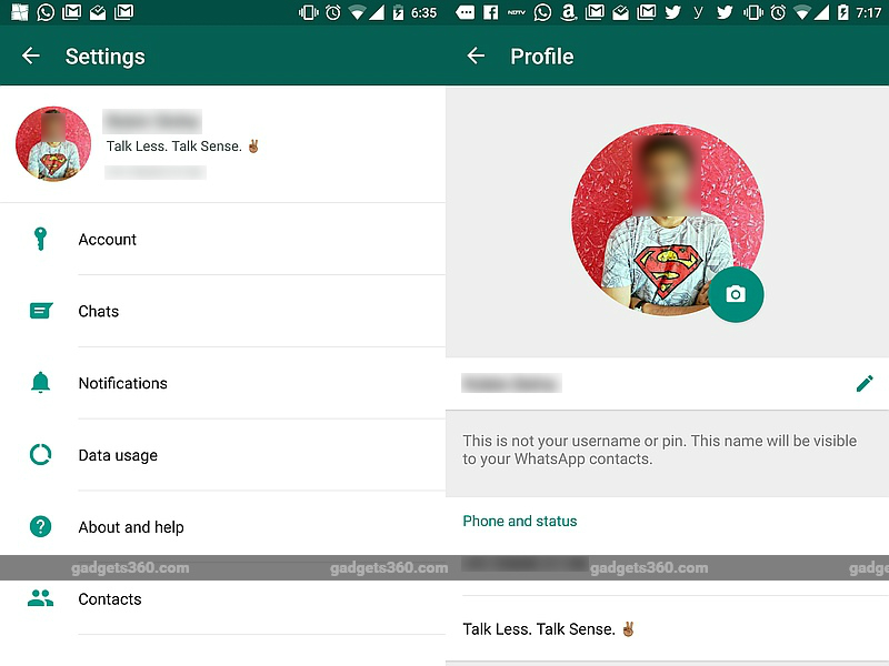 WhatsApp for Android Update Brings Revamped Settings Page
