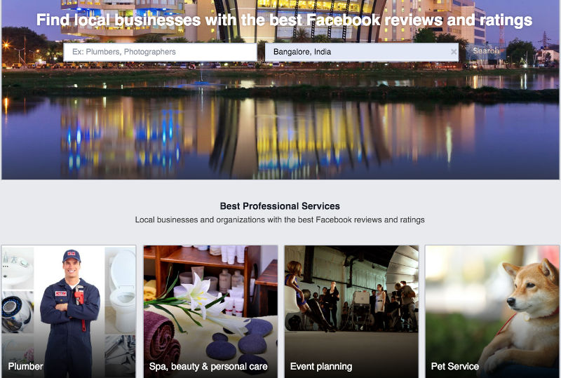 Facebook Enters Hyperlocal Services Space in India