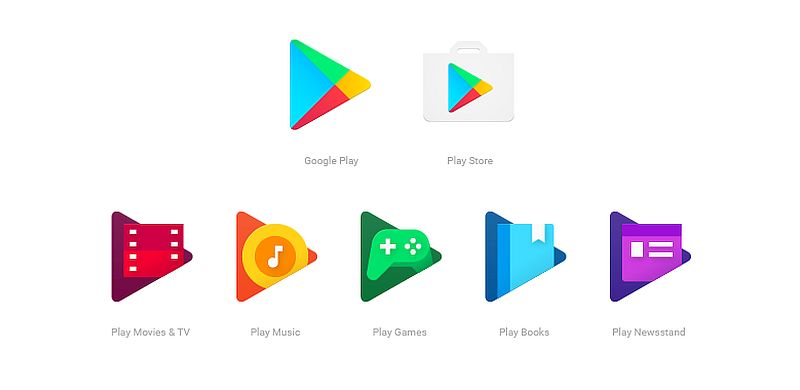 Google Play Family of Apps Get Refreshed Icons