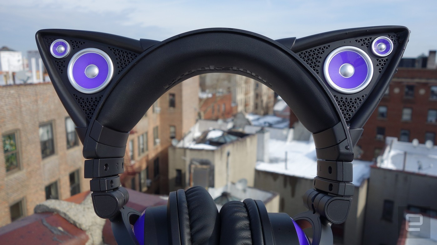 Axent put on's cat ear headphones are the stuff of anime dreams