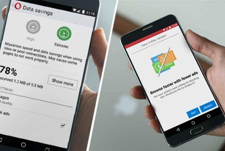 Opera's built-inintegrated advert-Blocker Now to be had for Android and computer