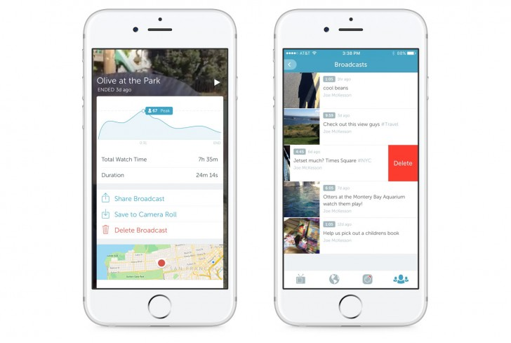 Periscope proclaims are now completely saved by default