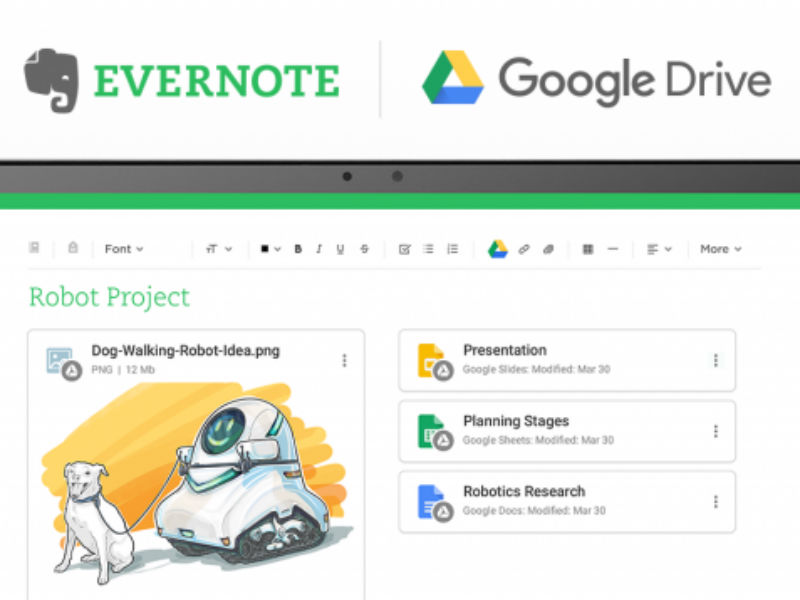 Evernote gets Google drive Integration on Chrome and Android
