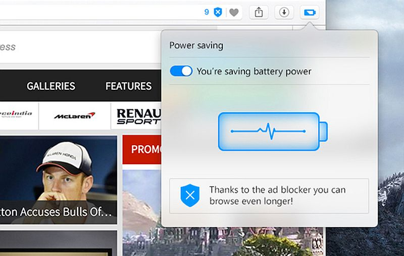 Opera's New electricity Savbuilt-ing Mode Can 'built-in pc Battery existence by 50 percentage'