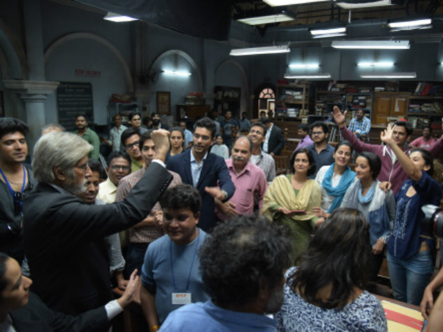 Amitabh Bachchan Wraps Shoot With an Emotional Message For group pink