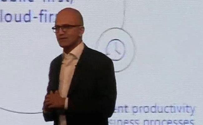 Microsoft leader Satya Nadella Speaks On virtual Transformation In Delhi