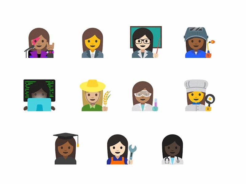 Google's New Emoji Aim to Combat Gender Inequality