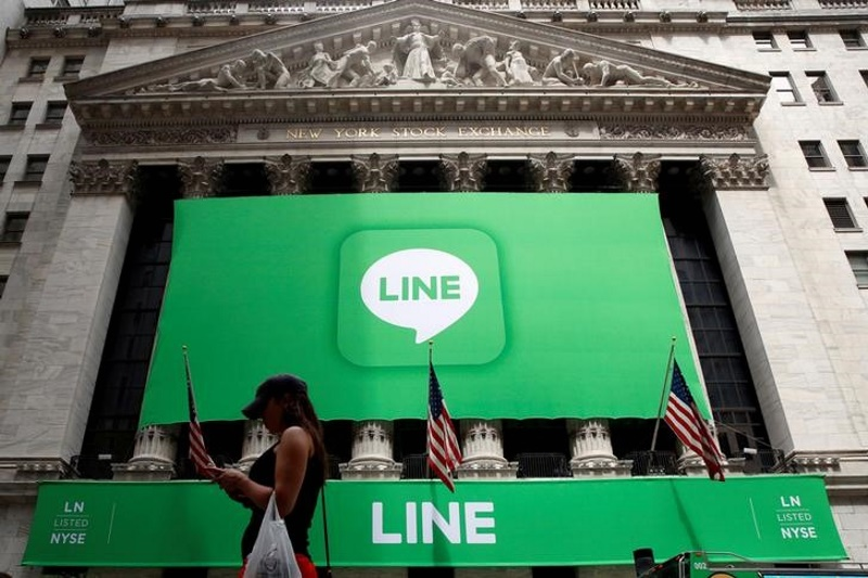 Japanese Chat App Line Soars in New York-Tokyo Dual Listings