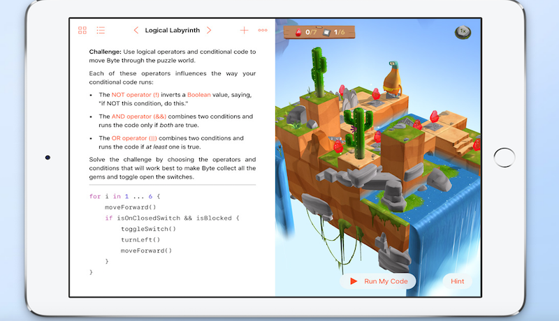Swift Playgrounds Coding Education App Released for iPad