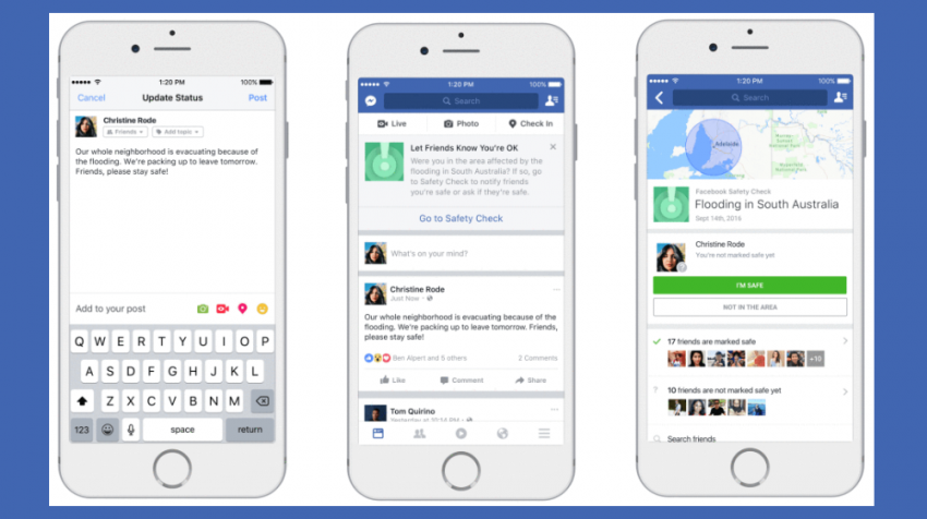 Facebook Unveils New Community Help, Safety Check, Donation and Non-Profit Partnership Tools