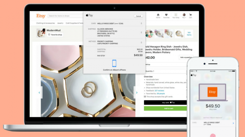 Good News for Etsy Sellers: Now You Can Accept Apple Pay on the Web