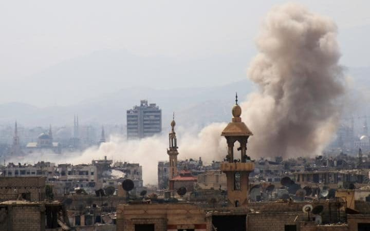 Syrian rebels launch surprise attack on Damascus