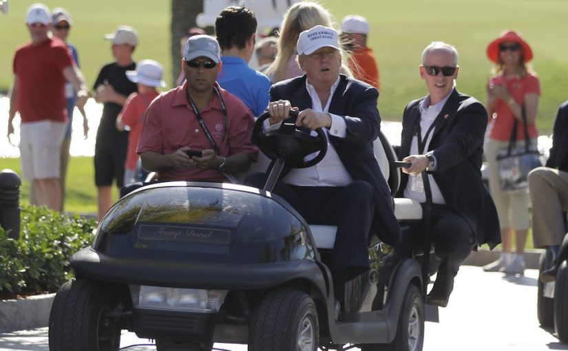 Obama traveled the world. Trump goes to Florida.