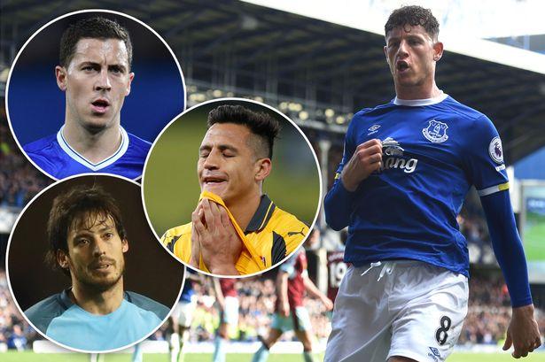 Ross Barkley has been more creative than Eden Hazard, David Silva and Alexis Sanchez this season