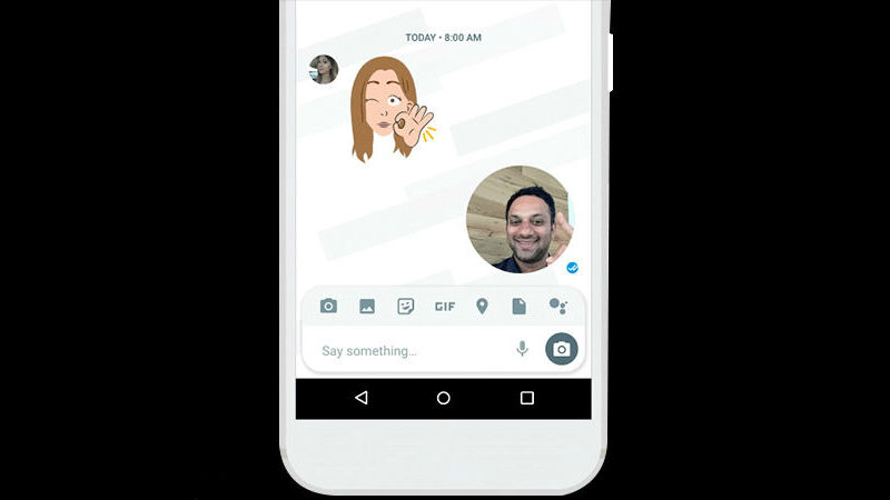Google Allo v12 Update Brings Selfie Clips, New Compose Bar