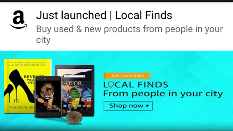Amazon India Officially Launches 'Local Finds' Buying, Selling Platform in Four Cities