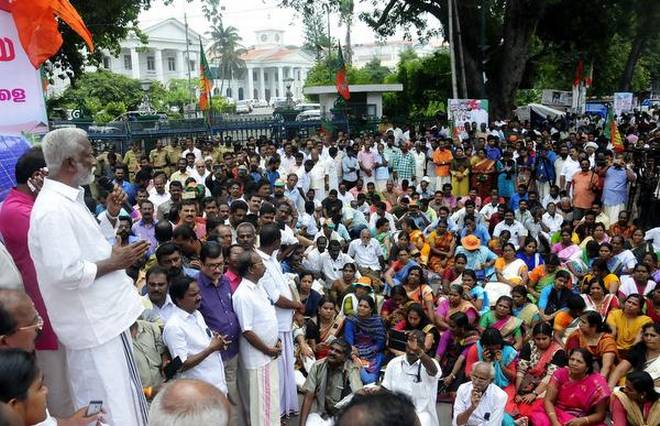 BJP siege throws life out of gear in city