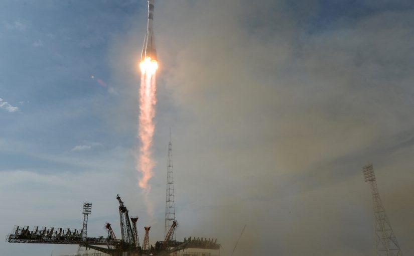 Watch This Spectacular Launch of the Soyuz Rocket From Space