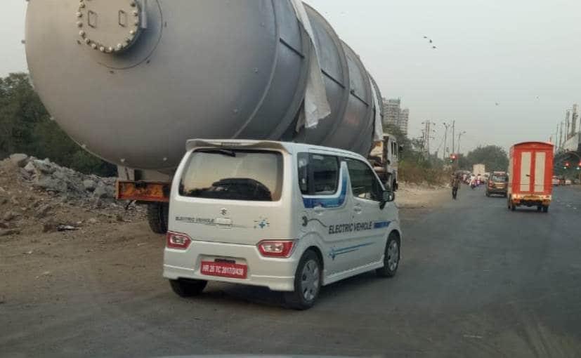 Maruti Suzuki's Electric Wagon R Prototype Spotted Testing