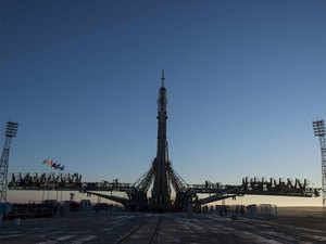 Astronauts say look forward to space launch after Soyuz accident
