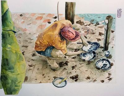 Artist enjoys creativity of watercolor
