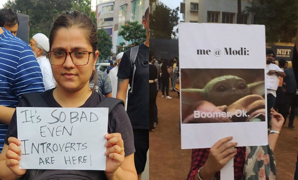 When India Got Creative With Its Anti-CAA Protests: A Roundup Of Some of The Best Slogans